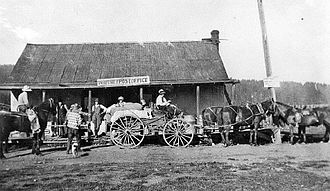Whitney, Oregon - Post office in Whitney, about 1900–1910