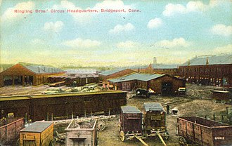 Ringling Brothers Circus - Circus's Bridgeport, Connecticut, headquarters, about 1911