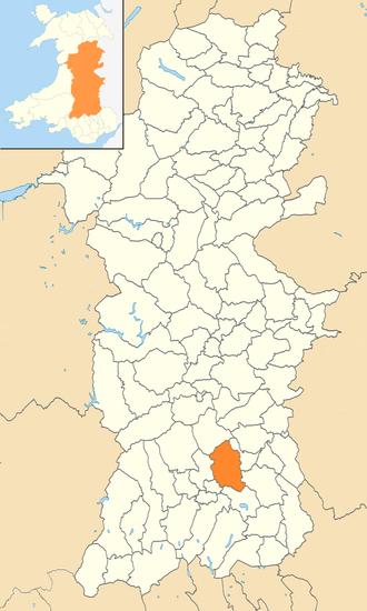 Felin-fach - Location of Felin-fach in Powys