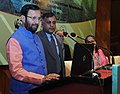 Prakash Javadekar launching the ENVIS portal, at the National Interaction-cum-evaluation workshop for Environmental Information System (ENVIS) centres, in New Delhi.jpg