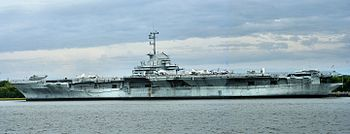 Present Day Profile View of the USS Yorktown