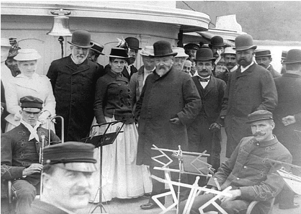 President Benjamin Harrison on ship