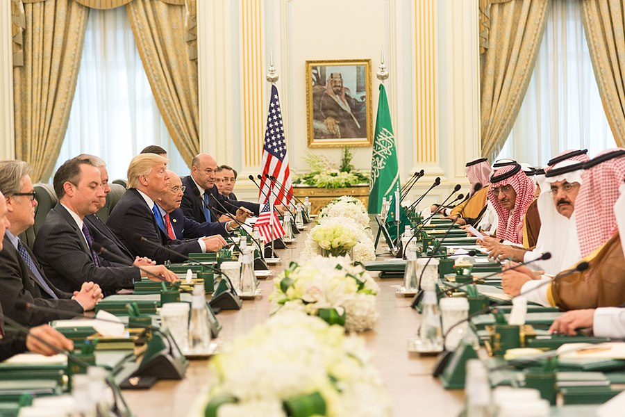 President Donald J. Trump Leads a Bilateral Meeting with King Salman bin Abdulaziz Al Saud, May 20, 2017.jpg