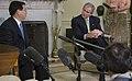 President George W. Bush listens to remarks by President Nguyen Minh Triet of Vietnam.jpg
