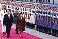 President Gloria Macapagal Arroyo and Chinese President Jiang Zemin troop the line.jpg