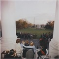 President Kennedy and Family watch the Black Watch Tattoo. Mrs. Kennedy, John F. Kennedy ,Jr., Caroline Kennedy... - NARA - 194261.tif