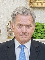 Amtierender finnischer Präsident Sauli Niinistö (parteilos; bis 2018: KOK)