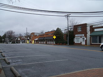 Maryland Route 765 - MD 765 northbound on Main Street in Prince Frederick