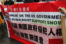 Protesters rally in Hong Kong to support Edward Snowden 01.jpg