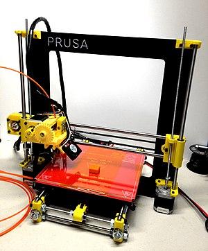 Fused filament fabrication - Prusa i3, a simple fused filament printer
