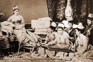 Jeshm Afet Hanimefendi - Jeshm Afet Hanimefendi and her female orchestra, circa 1872.