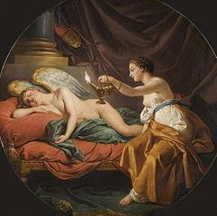 Psyché surprend l'amour endormi