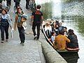 Punting opposite the Ice Wharf Regent's Canal Camden Lock 0889.JPG
