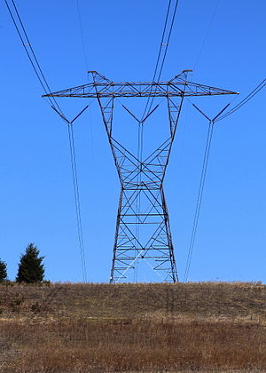 Lattice tower - A pylon with the lattice tower design