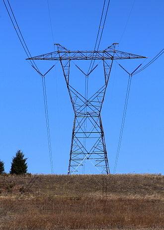 Lattice tower - A pylon with the lattice tower design