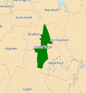 Electoral district of Woodridge - Electoral map of Woodridge, 2008