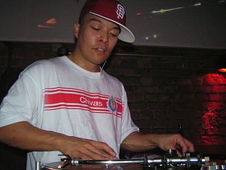 DJ Qbert - Performing at a gig in Berlin, February 2008
