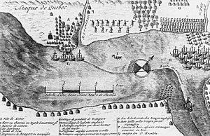 Battle of Quebec (1690) - Map of skirmishing at Quebec