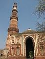 Qutb Minar with Alai Darwaza in foreground.jpg