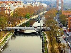 Manzanares River in Madrid (Spain).