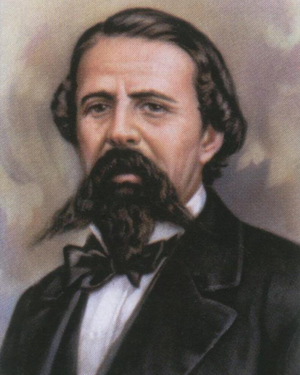 Rómulo Díaz de la Vega - A painting of Rómulo Díaz de la Vega.
