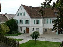 Rückerts Wohn- und Sterbehaus in Neuses, heute ein Stadtteil von Coburg (Quelle: Wikimedia)