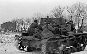 Battle of the Korsun–Cherkassy Pocket - Image: RIAN archive 606710 Tank assault force in Korsun Shevchenkovski region