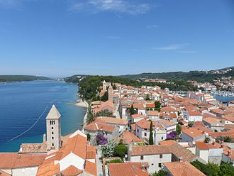 Rab - Rab as seen from the Bell tower