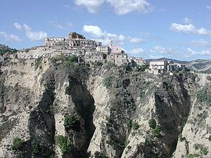 Tursi - View of the ancient burgh of Rabatana in Tursi.