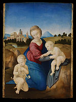 Raffaello Santi - Madonna and Child with the Infant Saint John - Google Art Project.jpg