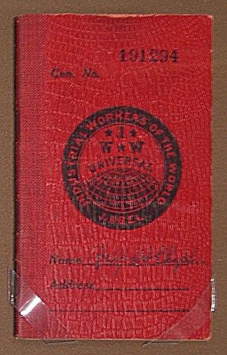 Ralph Chaplin - Chaplin's IWW membership booklet