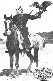 Carl Raswan pictured on an Anazeh warmare