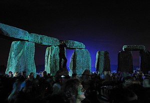 Battle of the Beanfield - The Summer Solstice once again being observed at Stonehenge, in 2005.