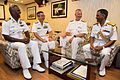 Rear Adm. Brian Hurley, center right, deputy commander, U.S. 7th Fleet, meets with foreign naval leaders aboard the Indian Navy Shivalik-class stealth frigate INS Satpura (F48) during Malabar 2016.jpg