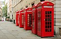 Red Public Phone Boxes - Covent Garden, London, England - July 10, 2012.JPG