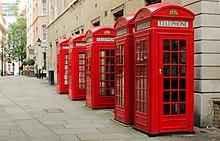 Cabina Telefonica Londinese Wikipedia : Red telephone box wikipedia