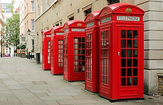 1926 in architecture - K2 red telephone boxes in London