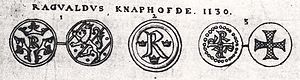 Ragnvald Knaphövde - Image: Reginald Knobhead of Sweden coins 1710 by Elias Brenner