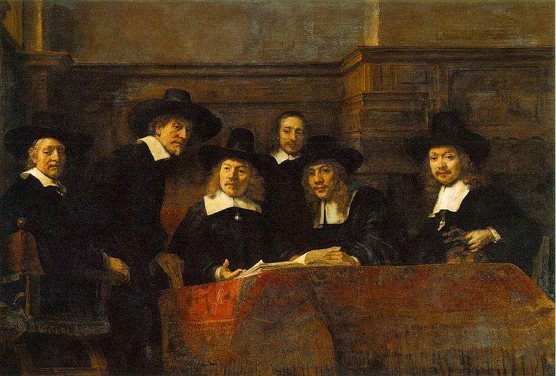 File:Rembrandt - Klesveverlaugets forstandere i Amsterdam.jpg