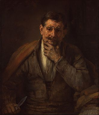 Rembrandt in Southern California - Saint Bartholomew, 1661, J. Paul Getty Museum, Los Angeles. In Southern California by 1971. Gift of J. Paul Getty