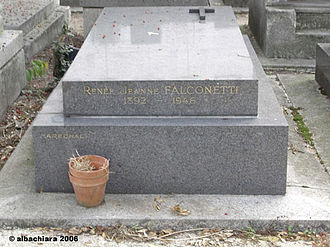 Montmartre Cemetery - Renée Jeanne Falconetti