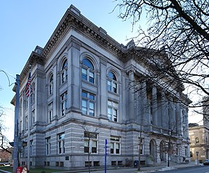 Rensselaer County, New York - Rensselaer County Courthouse located on the corner of Congress and 2nd Streets in Troy