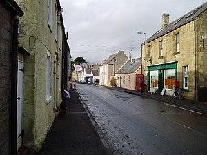 Reston, Scottish Borders - The main street in Reston.