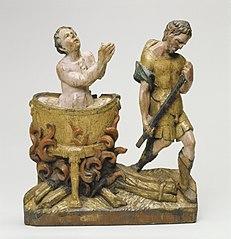 Retable fragment representing the legend of St John the Evangelist