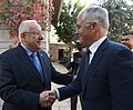 Reuven Rivlin, met with Malcolm Turnbull, who visited Israel as part of the events marking the 100th anniversary of the battle over Beer Sheva, November 2017 (7542).jpg