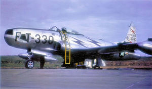Fürstenfeldbruck Air Base - Lockheed P/RF-80A-5-LO Shooting Star Serial 45-8330 of the 38th Tac Recon Squadron / 10th TRW