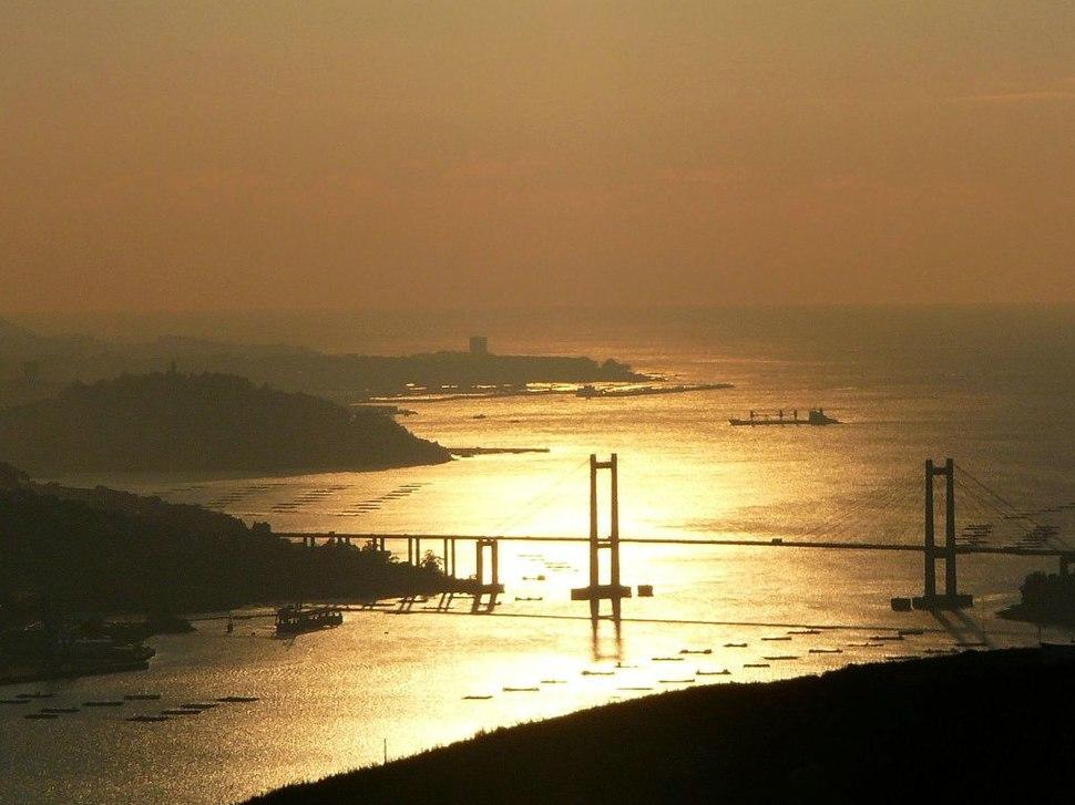 Ria de Vigo. Ponte de Rande. Galiza