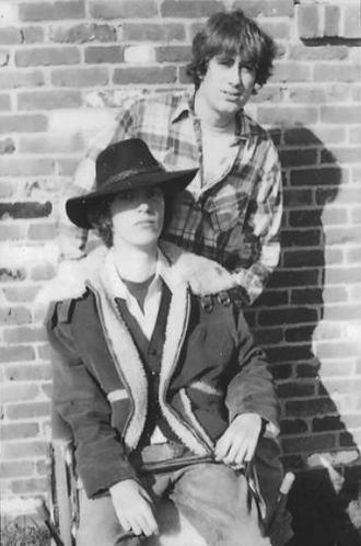Richard Rossi - Rossi (standing on right) age 17 with singing-songwriting partner John Walker in 1980.