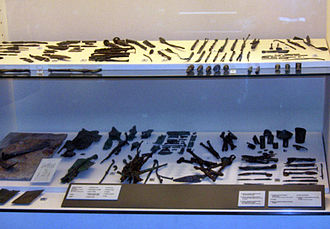 "Medicine in ancient Rome - Roman surgical instruments; from the ""Surgeon's House"" in Ariminum (Rimini, Italy)."