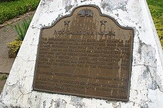Rios-Caledonia Adobe - Landmark plaque